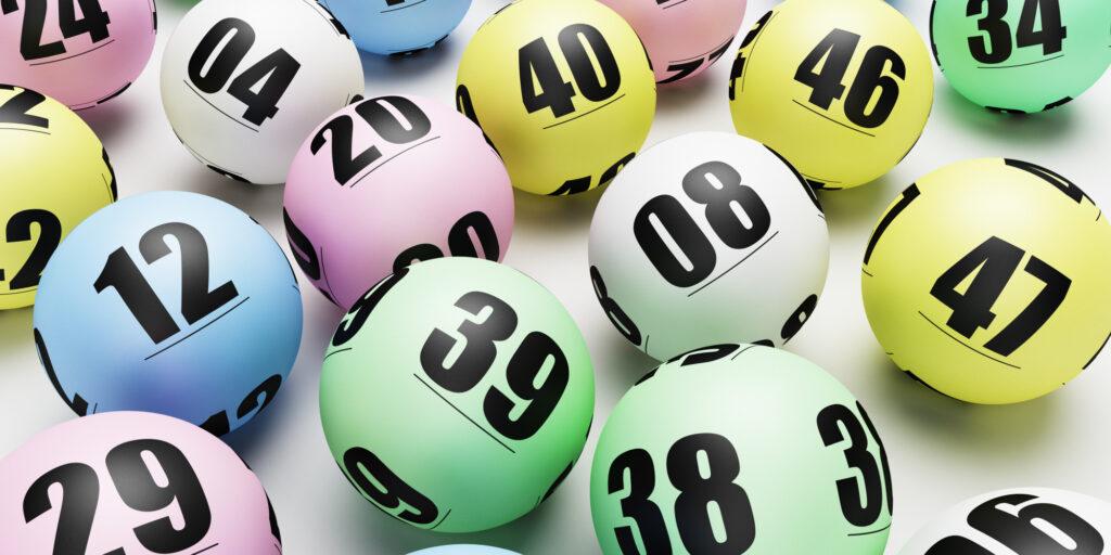 Multicoloured lottery or bingo balls